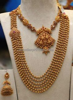 Antique necklace and antique finish necklaces Latest designs Indian Wedding Jewelry, Indian Jewelry, Bridal Jewelry, South Indian Jewellery, Indian Bridal, Antique Necklace, Antique Jewelry, Antique Rings, Antique Gold