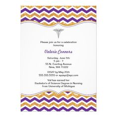 162 Best Purple Graduation Invitations Images In 2019