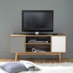 Porta-TV vintage in legno L 120 cm
