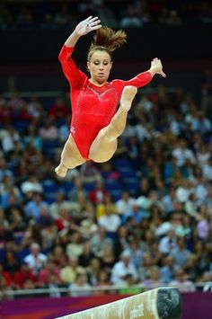 Italy's gymnast Vanessa Ferrari. good but not as good as The Fab-Five