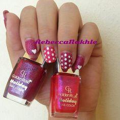 Textured Polka Dots Nails using Golden Rose-Holiday #57 and Golden Rose-Holiday #62