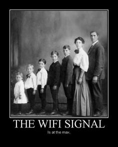the wifi signal is at the max
