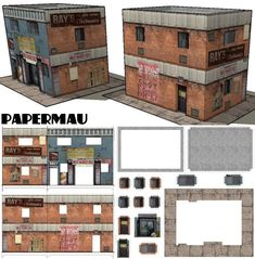 This paper model was created using textures taking from GTA V videogame . As I play the version, I can not save print screens , so I. Cardboard Toys, Paper Toys, Paper Crafts, Ho Scale Buildings, Free Paper Models, Berlin Museum, Free To Use Images, Paper Houses, Model Building