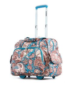 Take a look at this Paisley Deluxe Fashion Wheeled 15'' Overnighter by Olympia on #zulily today! $45 !!