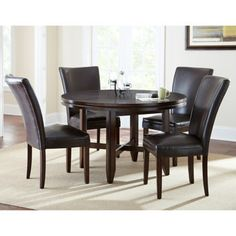 """Caden 5-Piece Dining Set with 52"""" Table"""