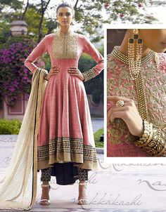 Appear ethnic in such a affluent Salmon Jute Unstitched Salwar Kameez. The lovely Resham & Butta Work work a substantial attribute of this attire.