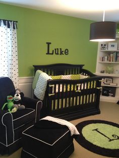 Black/White/Green nursery for my little boy!!