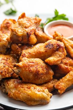Looking for a healthier twist on traditional wings? These Air Fryer Chicken Wings will do the trick. Crispy and yummy, your family and friends will keep asking for them again and again! #airfryerrecipes #airfryerwings Frozen Chicken Wings, Air Fryer Chicken Wings, Crispy Chicken Wings, Air Frier Recipes, Air Fryer Oven Recipes, Crab Pasta Salad, Eating Too Much Protein, Easy Lasagna Recipe, Chicken Wing Recipes