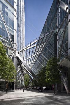 SOM's Broadgate Tower, Primrose Street entrance. DBOX 2011