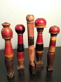 Rare antique set of wax seal stamps with painted handles from India on Etsy, $150.00