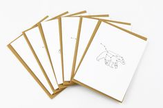 Quirky constellation cards. So cool! www.mooreaseal.com