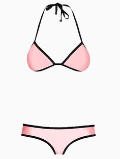 Pink Halter Push Up Bikini | Choies
