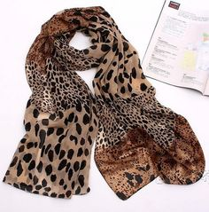 [gryxh3400101]Fashion sexy CONTRAST COLOR Leopard Print Scarf