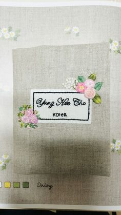 Embroidery  passport case