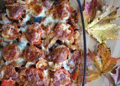 Pasta casserole with vegetables and bacon Pasta Casserole, Hawaiian Pizza, Pepperoni, Mozzarella, Cauliflower, Bacon, Vegetables, Food, Cauliflowers