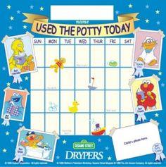 Potty Training Charts - Sesame Street has Helpful ideas for Parents - babypottyseat.com