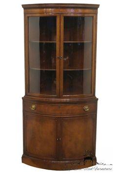 1940's Duncan Phyfe Mahogany Corner Display China Cabinet | eBay