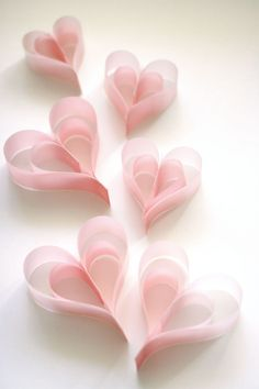 DIY Pretty Vellum Paper Heart Tutorial from Cosmo Cricket. For hundreds of Valentine's Day DIY go here:truebluemeandyou.tumblr.com/tagged/hearts
