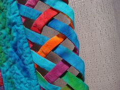 Leaf Quilt Edge Detail by Laurie Evans