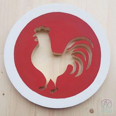 Check out this item in my Etsy shop https://www.etsy.com/ca/listing/559865081/red-rooster-wall-art-rooster-decor-red