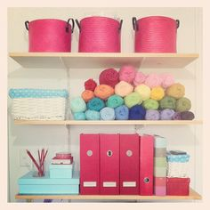 sewing crafts | Sewing craft art room studio shelves organization and storage