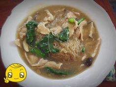 I make this dish for lunch. Stir fried noodle with thick pork gravy.( Rad Nah) Thai dish.