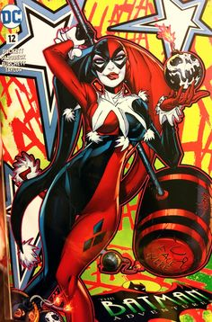 Harley Duel Coverback Cover by Jonboy Meyers Joker Und Harley Quinn, Female Villains, Comic Book Girl, Arte Dc Comics, Injustice 2, My Spirit Animal, Comic Book Characters, Poison Ivy, Gotham City
