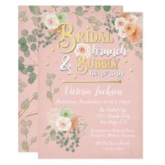 Blush pink, faux gold foil and green Bridal Shower invitations for a brunch with champagne bubbly. Features pretty watercolor flowers and eucalyptus leaves and faux gold foil bubbles. Light grunge. Need help with the layout, just email me the link to tkatz@me.com Brunch Invitations, Zazzle Invitations, Bridal Shower Invitations, James Cagney, Green Bridal Showers, Bachelor Gifts, Modern Wedding Stationery, Champagne Brunch, Watercolor Wedding Invitations