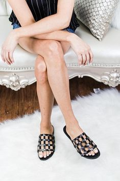 Here She Comes Cage Shoes (Black)