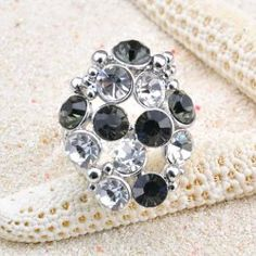 Chic Net-Shaped Faux Crystal Embellished Alloy Ring For Women