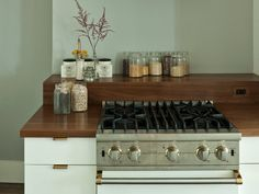 brass/wood/white // desire to inspire - desiretoinspire.net - Tale of two kitchens