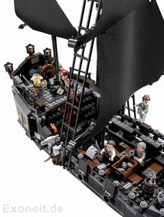 """4184 The Black Pearl is a Pirates of the Caribbean set released on November 1st, 2011. Included in this set are 804 pieces and six minifigures: Jack Sparrow, Davy Jones, Joshamee Gibbs, Will Turner, Maccus, and Bootstrap Bill Turner. It is drawn from the second Pirates of the Caribbean film """"Dead Man's Chest"""". The Black Pearl is a Pirate Ship captained by Jack Sparrow in the Pirates of the Caribbean films. Taken from the film, """"Dead Man's Chest"""", the ship comprises of a plain black hull..."""