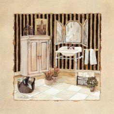 Vintage Bath I (Charlene Winter Olson)