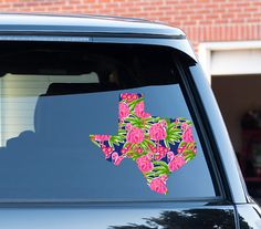 Home State Texas Car Decal Lilly Inspired Car Stickers Car Decor Cute Car Accessories Car Decals Vinyl Decal For Yeti State Texas Sticker by ChicMonogram on Etsy