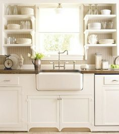 Love the open shelving in the kitchen by majica