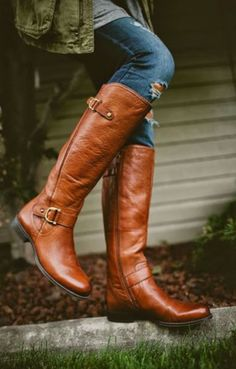 Riding boots. If you haven't seen a high percentage of the white girl population wearing them, you really should leave your house more often. Pair them with tights and knee socks or just a pair of skinny jeans.