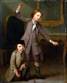 Portrait of Two Boys by Joseph Francis Nollekens 1745