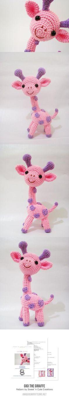 Gigi the Giraffe amigurumi pattern by Sweet N' Cute Creations - Amigurumi Ideas Giraffe Crochet, Knit Or Crochet, Cute Crochet, Crochet For Kids, Crochet Stitches, Giraffe Pattern, Crochet Patterns Amigurumi, Crochet Dolls, Knitting Patterns