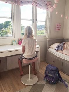 The Move stool, amazing for children's posture. We love the decor in this room too.