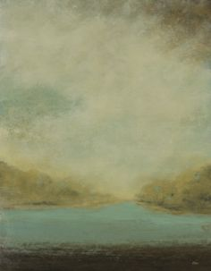 Muted Landscape II Giclee on canvas stretched over a wood frame. 47x60