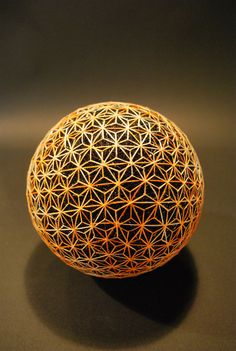 Creating Temari balls is a traditional folk art form that originated in China and was introduced to the Japanese during the seventh century. Japanese Toys, Japanese Art, Traditional Japanese, Cura Interior, Temari Patterns, Yoga Studio Design, Art Populaire, Crop Circles, 3d Prints