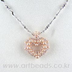 Open Heart pearl necklace
