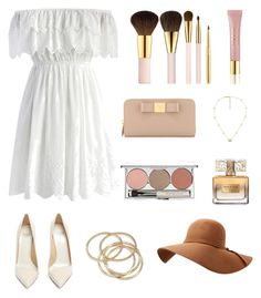 White Dress by elysiane on Polyvore featuring Chicwish, Francesco Russo, Prada, ABS by Allen Schwartz, Gucci, AERIN, Chantecaille and Givenchy