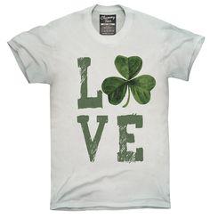Green Shamrock Love Shirt, Hoodies, Tanktops