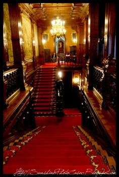 House Staircase, Grand Staircase, Staircases, Palace Interior, Interior And Exterior, Interior Design, Peles Castle, Victorian Manor, Castle Wall