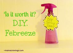 Is it worth it? DIY Febreeze #homemade #cleaner #frugal #natural