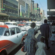 Bourke St, Melbourne in the 1960s