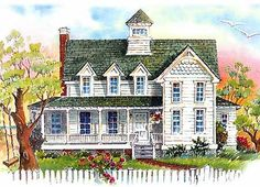 Plan W13009FL: Beach, Florida, Narrow Lot, Vacation, Shingle Style House Plans & Home Designs