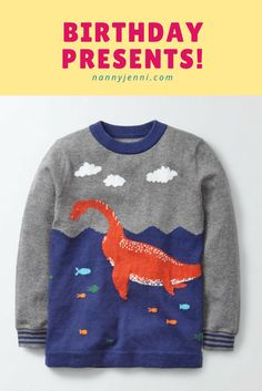 Take a look at what birthday presents I got for my nanny child for his birthday! The gorgeous jumper featured in this post I will let you know where I got it from too :)