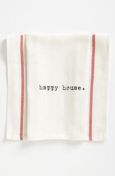 happy heart, happy house  Second Nature By Hand 'Happy House' Towel (2 for $16) | Nordstrom
